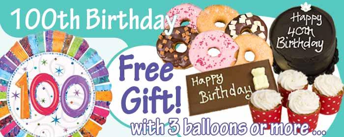 100th Birthday Balloons