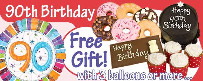 90th Birthday Balloons