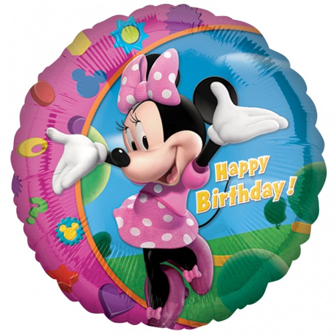 More Views Minnie Happy Birthday Balloon