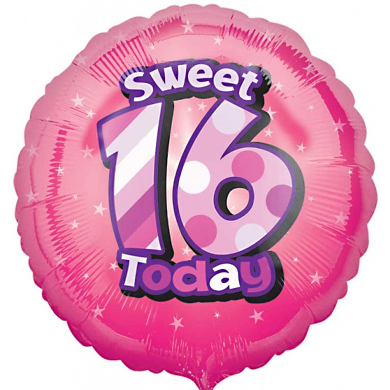 Sweet 16th Birthday Balloon Delivered Inflated In UK