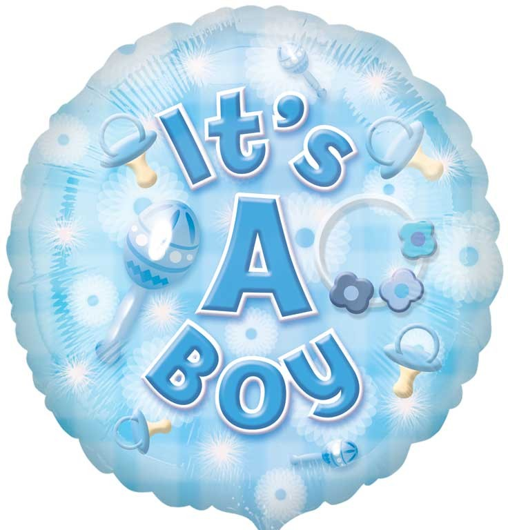 new baby boy circle balloon delivered inflated in uk