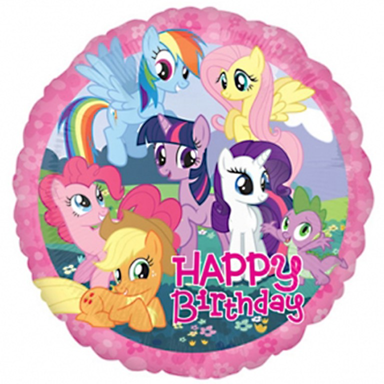 My Little Pony Birthday Balloon Delivered Inflated In UK