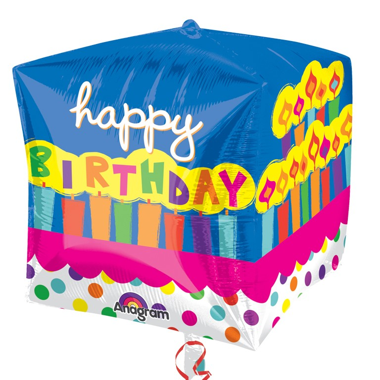 Strange Cubez Happy Birthday Cake Balloon Delivered Inflated In Uk Personalised Birthday Cards Veneteletsinfo