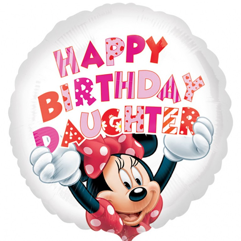 More Views Minnie Mouse Daughter Birthday Balloon