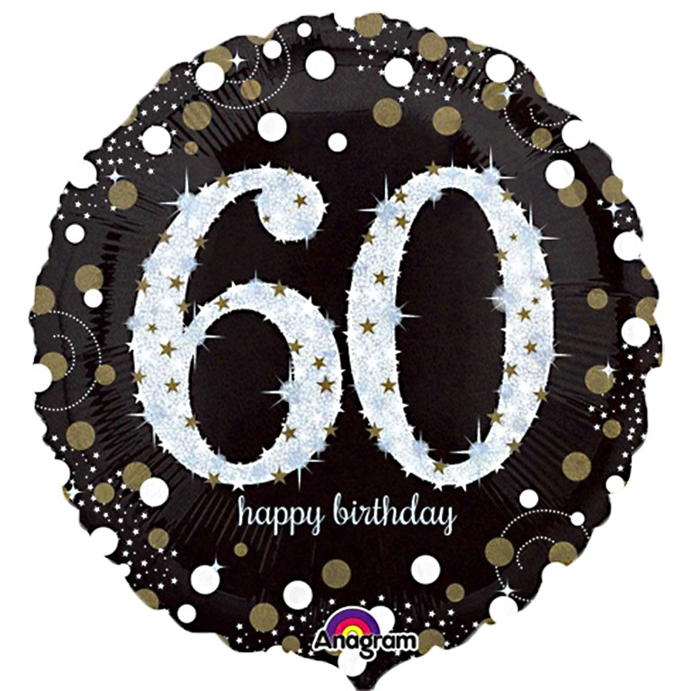 Sparkling 60th Birthday Balloon