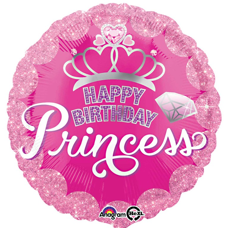 Tiara Happy Birthday Princess Balloon Delivered Inflated In UK