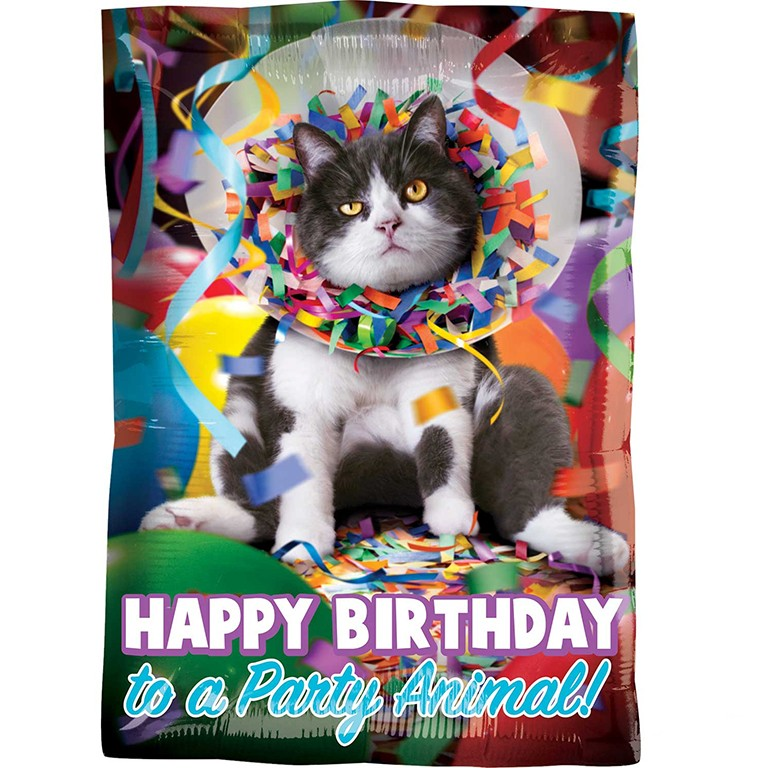 Happy Birthday Cat Balloon