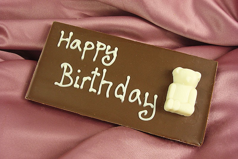 Happy Birthday Chocolate Message Bar