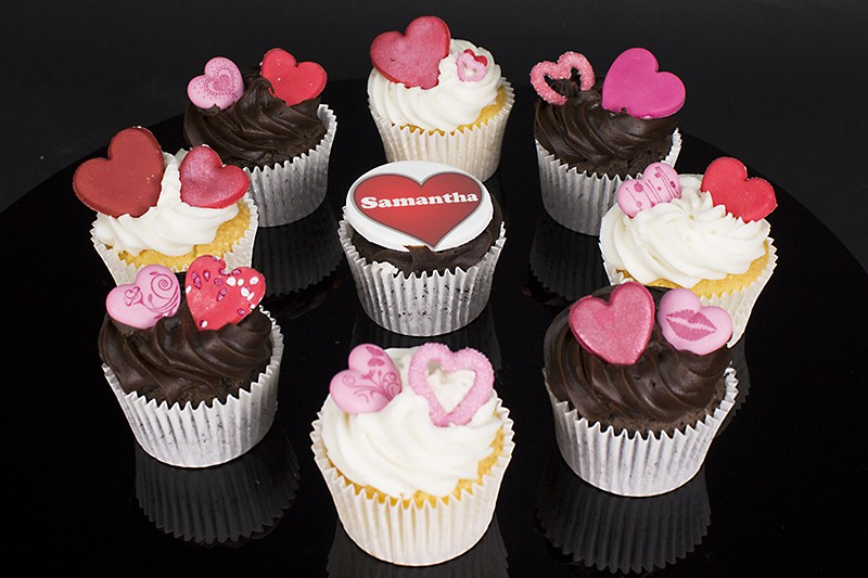 Personalised Valentines Day Cupcakes Valentines Day Gifts
