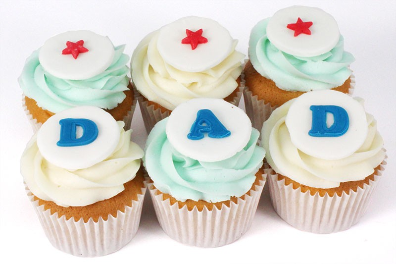 Peachy Dad Cupcakes Boxed Personalised Birthday Cards Paralily Jamesorg