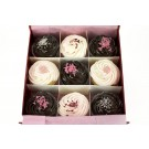 Tickled Pink Chocolate Cupcakes - Gift Box of 9