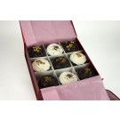 Chocolate and Vanilla Fudge Sensation - Gift Box of 9