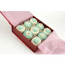 Cool Blue Cupcakes - Gift Box of 9