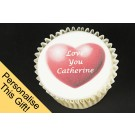 Personalised Chocolate and Iced Cupcakes - Gift Box of 9