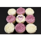 Mums Rose Design Cupcakes