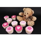 Mum's Teddy Bear Cupcakes - Gift Box of 9