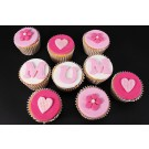Mum's Pretty in Pink Cupcakes - Gift Box of 9