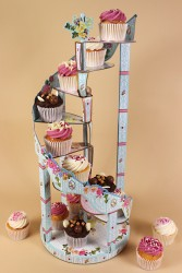Helter Skelter Stand with Cupcakes