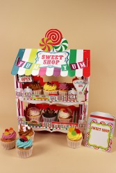 Sweet Shop Stand with Cupcakes