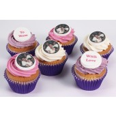 Mothers Day Photo and Logo Cupcakes - Box of 6
