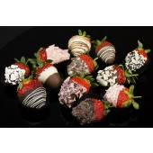 12 Luxury Chocolate Dipped Strawberries