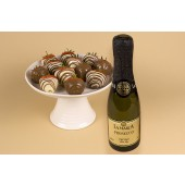 Prosecco With 12 Chocolate Dipped Swirled Strawberries