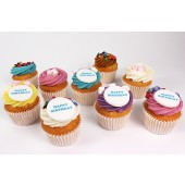 Personalised Mallows and Martys Cupcakes - Box of 16