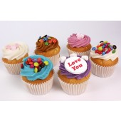 Personalised Mallows and Martys Cupcakes - Box of 6