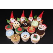 Santa's Christmas Cupcakes - Box of 16