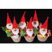 Santa's Christmas Cupcakes - Box of 6