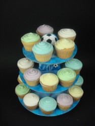 Boys Party Cupcakes With Stand (24)