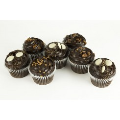 Chocolate Buttons and Fudge Cupcakes