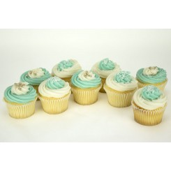 Cool Blue Cupcakes