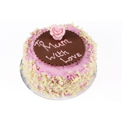 Mothers Day Rose Strawberry Cake