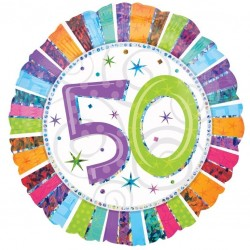 Radiant 50th Birthday Balloon