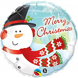 Snowman Merry Christmas Balloon