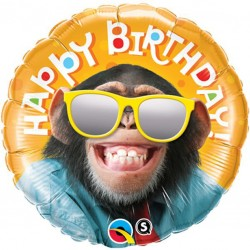 Smiling Chimp Birthday Balloon