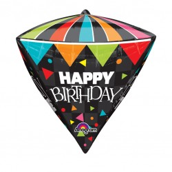 Big Top Diamondz Happy Birthday Balloon