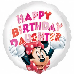 Minnie Mouse Daughter Birthday Balloon