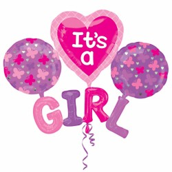 It's A Girl Cluster Balloon