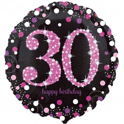 Celebration Pink 30th Birthday Balloon