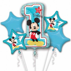 Mickey Mouse 1st Birthday Balloon Bouquet