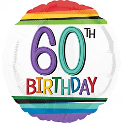 Rainbow 60th Birthday Balloon