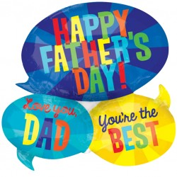 Speech Bubble Cluster Fathers Day Balloon