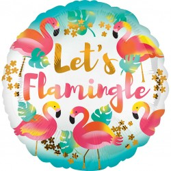 Lets Flamingle Flamingo Balloon