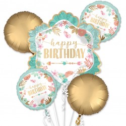 Boho Birthday Balloon Bouquet