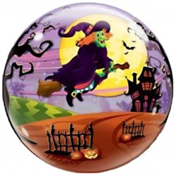 Halloween Witch Bubbles Balloon
