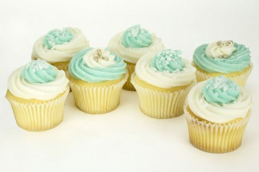 Cool Blue Cupcakes - Box of 6