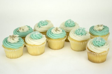 Cool Blue Cupcakes - Gift Box of 16