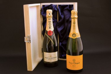 Moet and Veuve Champagne Case